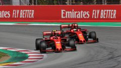 F1 GP Spagna 2019, Barcellona: Charles Leclerc e Sebastian Vettel (Ferrari)