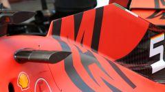 F1 GP Spagna 2019, dettagli del cofano motore della Ferrari SF90