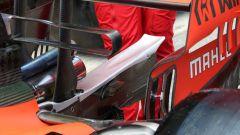 F1 GP Spagna 2019, dettagli del retrotreno della Ferrari SF90