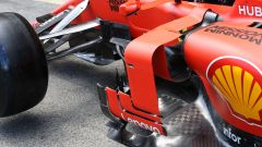 F1 GP Spagna 2019, dettagli delle pance laterali della Ferrari SF90