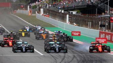 F1 GP Spagna 2019, la partenza della gara