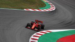 F1 GP Spagna 2019, Seb in curva-1