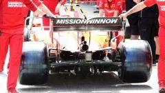 F1 GP Spagna 2019, vista posteriore della Ferrari SF90