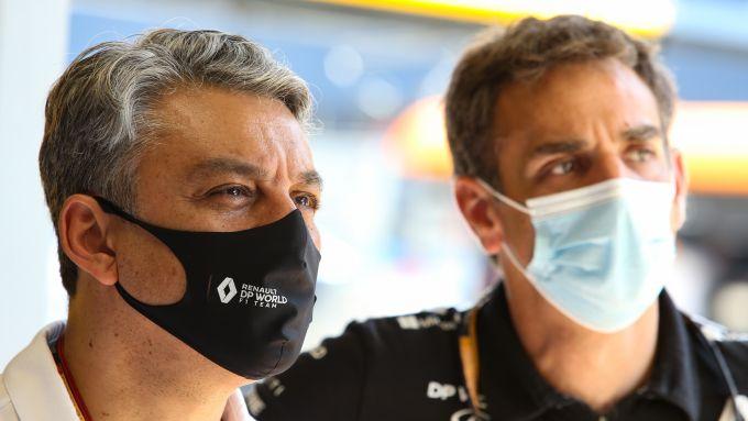 F1 GP Spagna 2020, Barcellona: Luca De Meo e Cyril Abiteboul (Renault Sport F1)