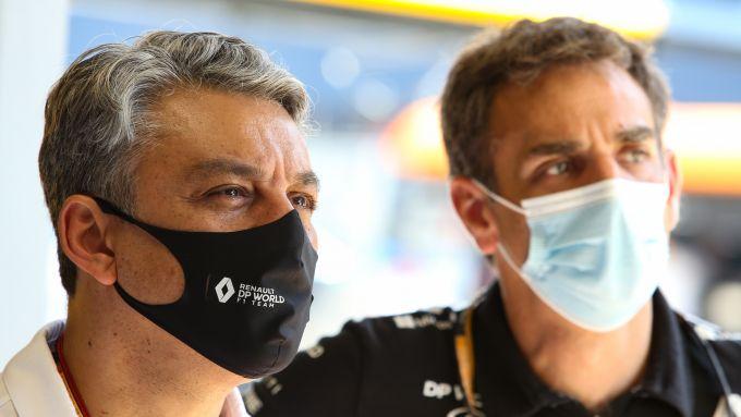 F1, GP Spagna 2020: Luca De Meo (CEO Renault) e Cyril Abiteboul
