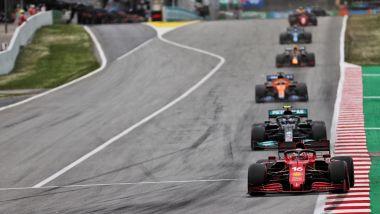 F1 GP Spagna 2021, Barcellona: Charles Leclerc (Scuderia Ferrari) nei primi giri di gara