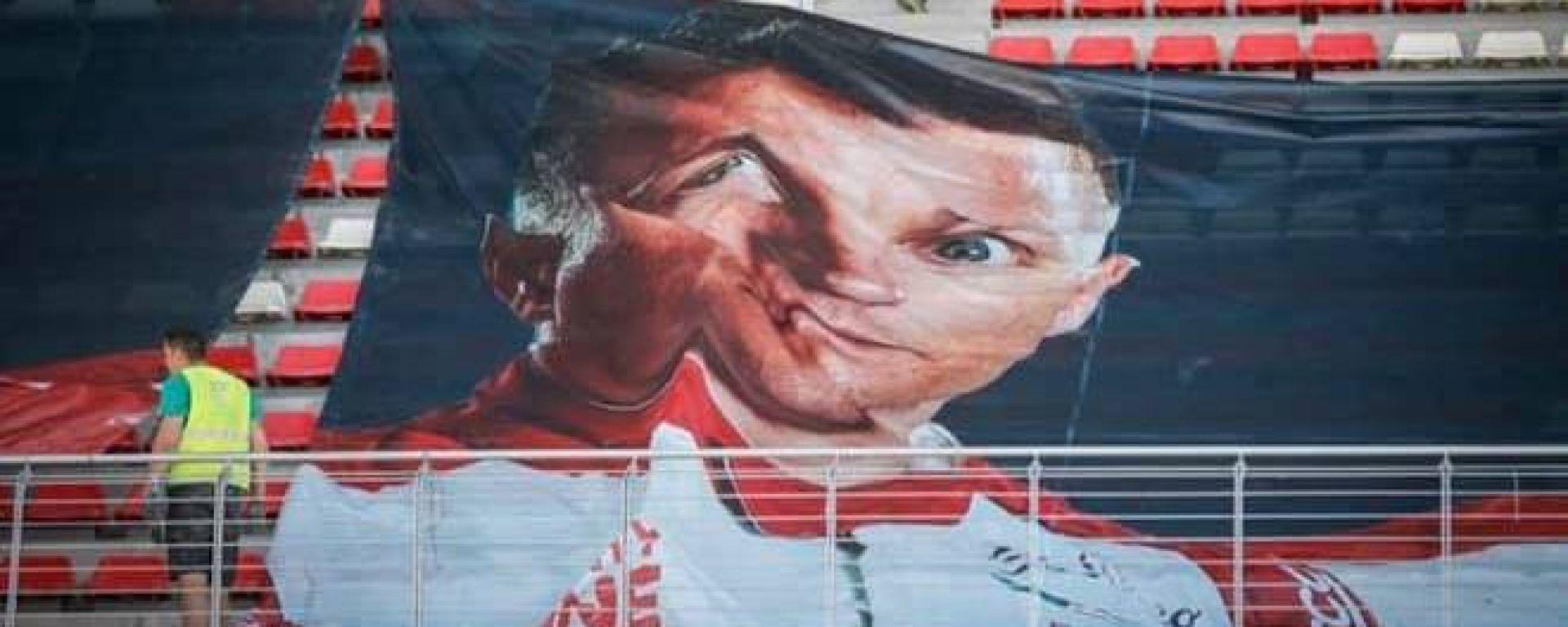 F1, GP Spagna 2021: kosa ciera in cuel striscione