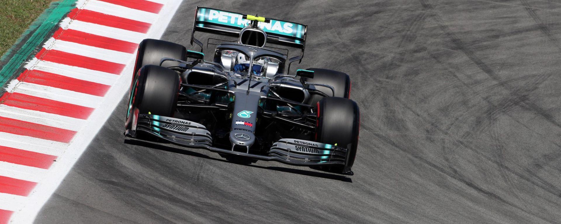 F1 Gp Spagna 2019 – PL2: Bottas e la Mercedes spaventano, Ferrari insegue