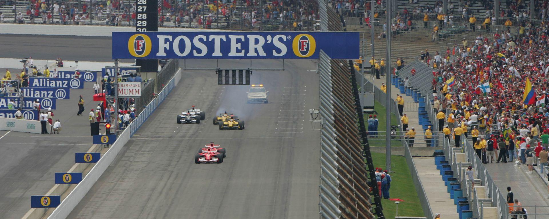 F1, GP Stati Uniti 2005: Ferrari, Jordan e Minardi al via della gara di Indianapolis