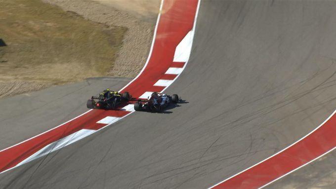 F1 GP Stati Uniti 2019, Austin: il sorpasso di Hulkenberg ai danni di Raikkonen