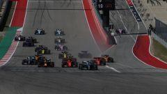 F1 GP Stati Uniti 2019, Austin: la partenza della gara