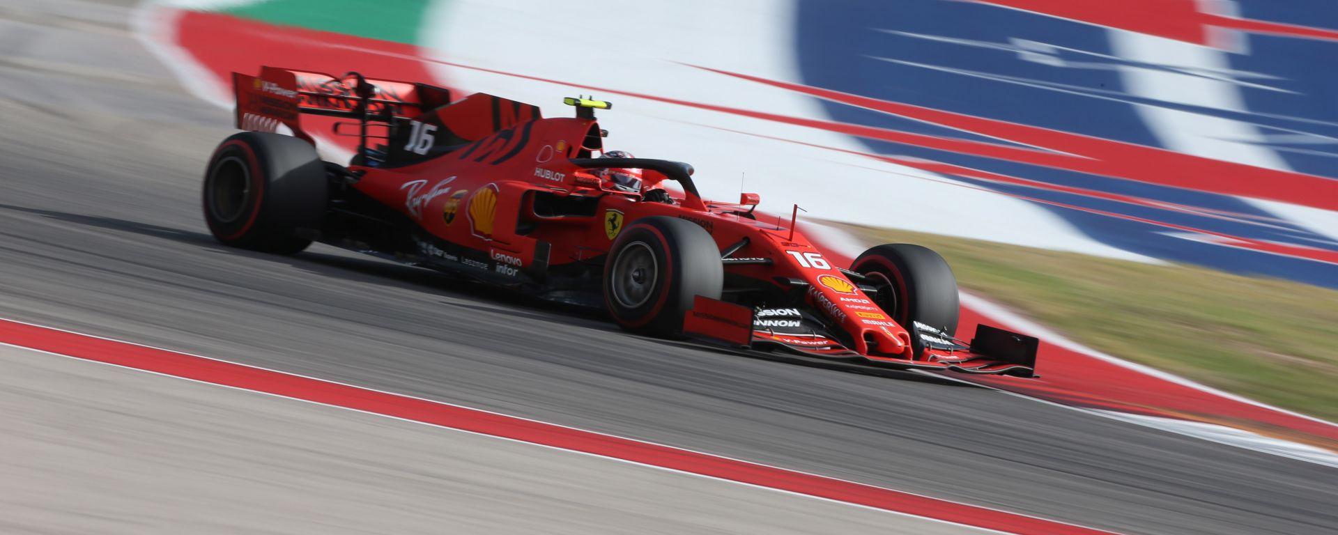 F1, GP Stati Uniti 2019: Charles Leclerc (Ferrari)