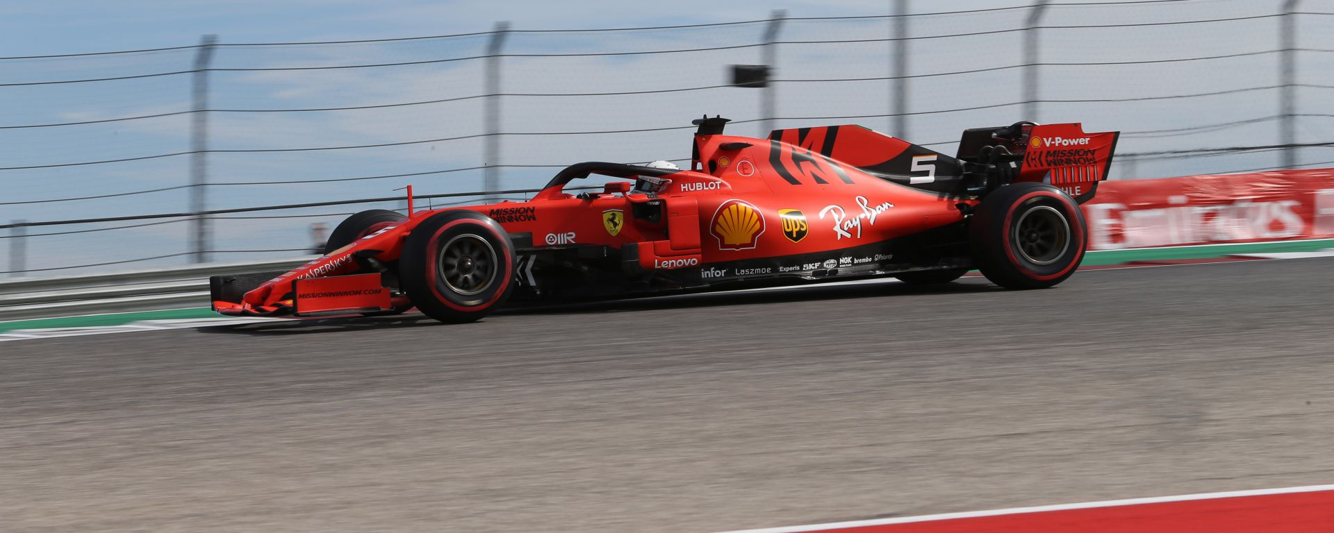 F1, GP Stati Uniti 2019: Sebastian Vettel (Ferrari)
