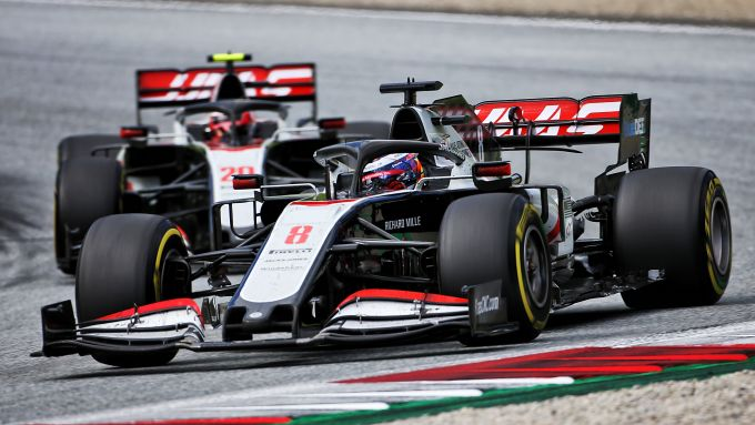F1, GP Stiria 2020: le Haas di Romein Grosjean e Kevin Magnussen