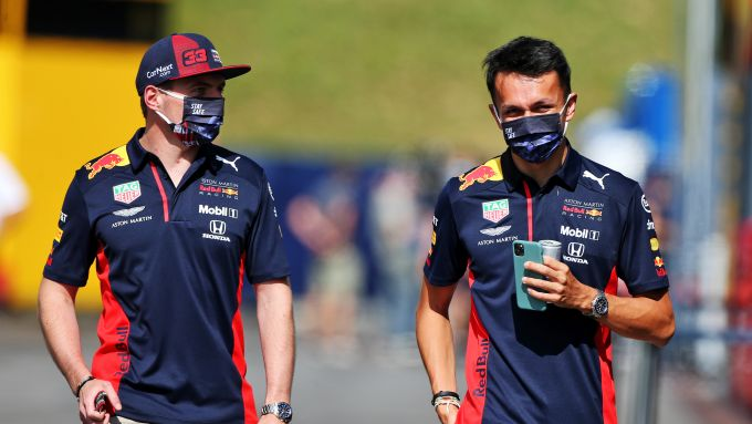 F1, GP Stiria 2020: Max Verstappen e Alex Albon (Red Bull)