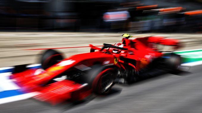 F1 GP Stiria 2020, Red Bull Ring: Charles Leclerc (Ferrari) esce dai box