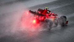 F1 GP Stiria 2020, Red Bull Ring: Charles Leclerc (Ferrari) sotto la pioggia di Spielberg