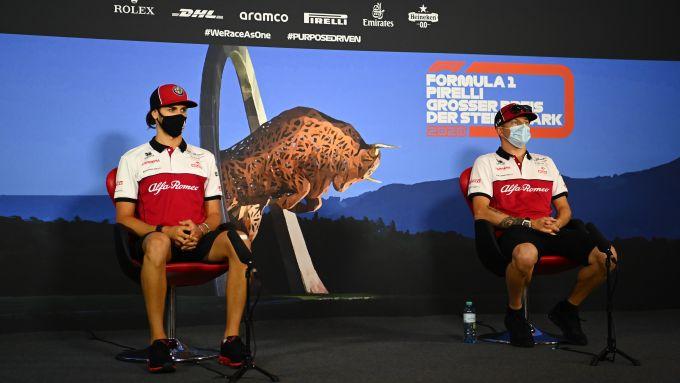 F1 GP Stiria 2020, Red Bull Ring: Kimi Raikkonen e Antonio Giovinazzi (Alfa Romeo) in conferenza