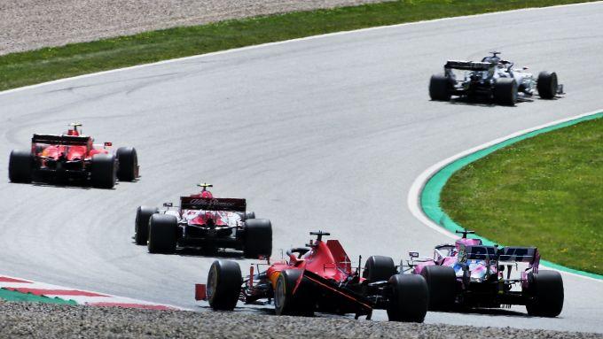 F1 GP Stiria 2020, Red Bull Ring: la monoposto danneggiata di Sebastian Vettel (Ferrari)