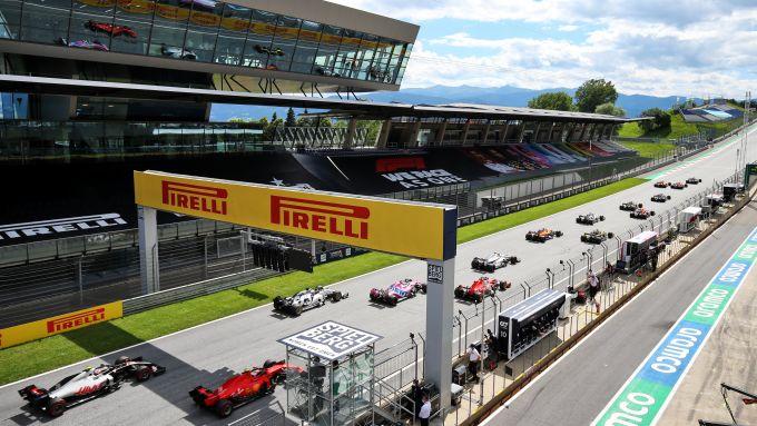 F1 GP Stiria 2020, Red Bull Ring: la partenza della gara