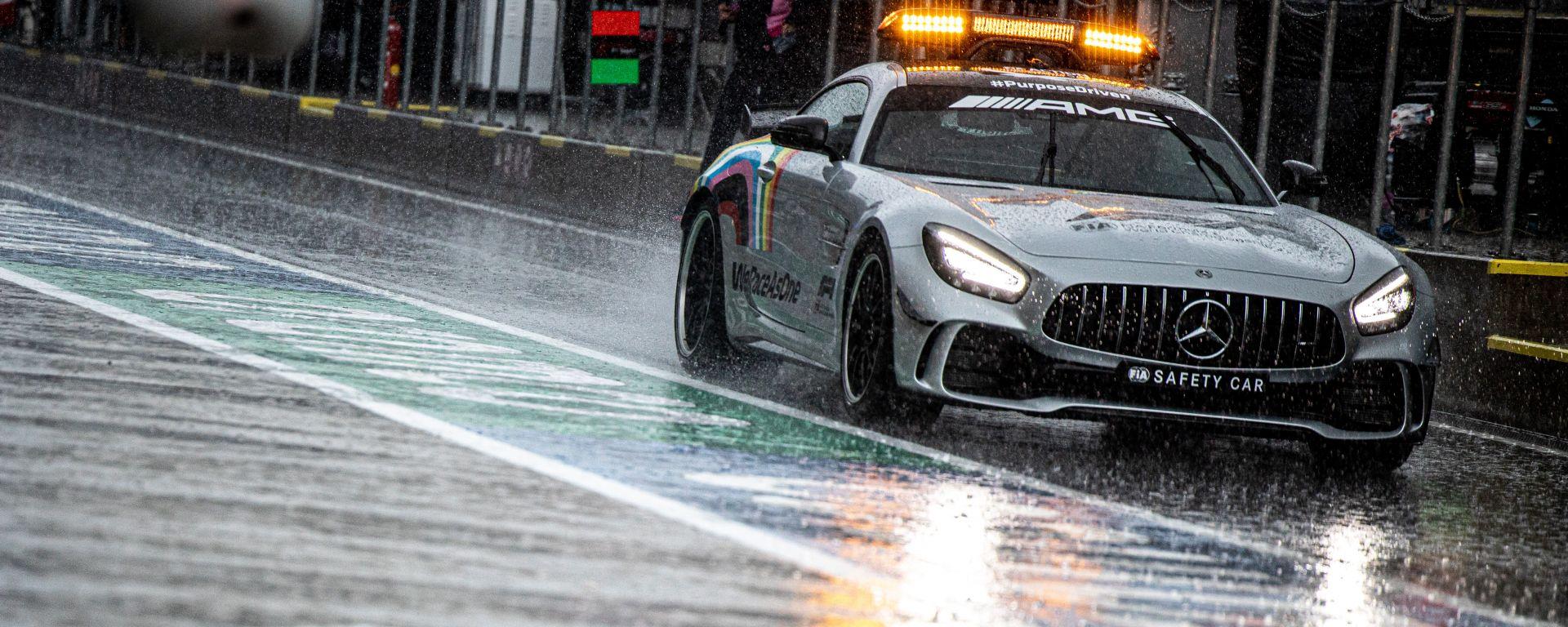 F1 GP Stiria 2020, Red Bull Ring: nelle PL3 ha vinto la pioggia e la Safety Car è stata l'unica auto a girare