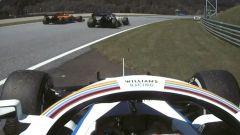 F1 GP Stiria 2020, Red Bull Ring: Norris (McLaren) sorpassa una Alpha Tauri con bandiere gialle