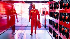 F1 GP Stiria 2020, Red Bull Ring: Sebastian Vettel entra nel box Ferrari