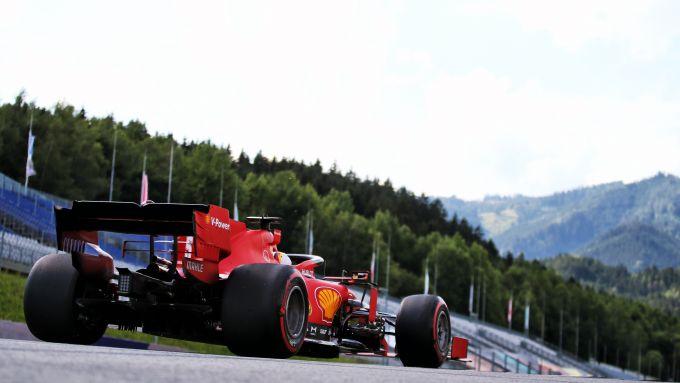 F1 GP Stiria 2020, Red Bull Ring: Sebastian Vettel (Ferrari)