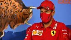 F1, GP Stiria 2020: Sebastian Vettel (Ferrari) in conferenza stampa