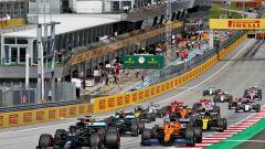 F1 GP Stiria 2020, Spielberg: la partenza della gara