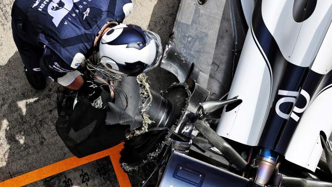 F1, GP Stiria 2021: i danni sull'AlphaTauri di Pierre Gasly