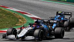 F1 GP Stiria 2021, Spielberg: George Russell (Williams Racing) in lotta