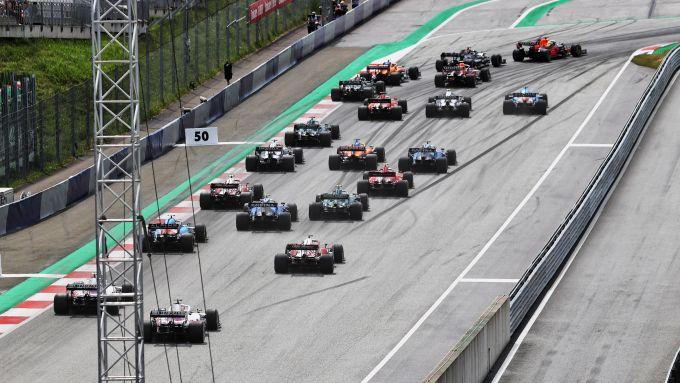 F1 GP Stiria 2021, Spielberg: la partenza della gara
