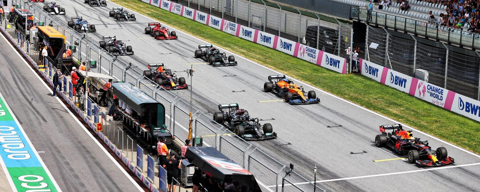 F1 GP Stiria 2021, Spielberg: la partenza