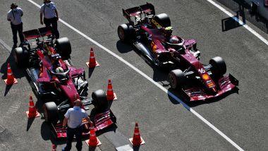 F1 GP Toscana 2020, Mugello: Charles Leclerc e Sebastian Vettel (Scuderia Ferrari)