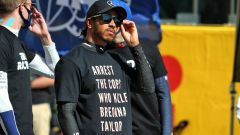 F1 GP Toscana 2020, Mugello: Lewis Hamilton con indosso la maglietta sul caso Breonna Taylor