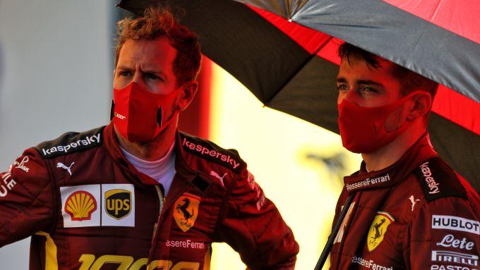 F1 GP Toscana 2020, Mugello: Sebastian Vettel e Charles Leclerc (Scuderia Ferrari)