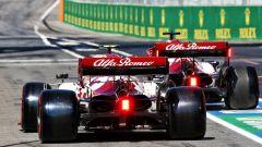 F1 GP Toscana Ferrari 1000, Mugello: Antonio Giovinazzi e Kimi Raikkonen (Alfa Romeo Racing)