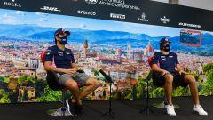 F1, GP Toscana Ferrari 1000: Sergio Perez e Lance Stroll (Racing Point) in conferenza stampa