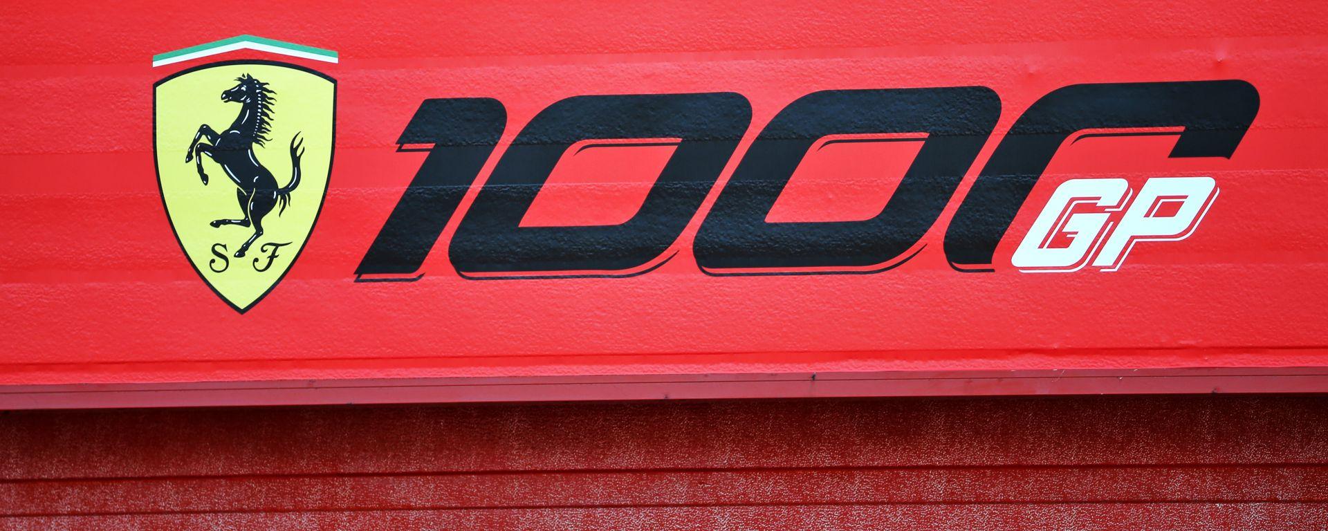 F1, GP Toscana: il logo per i 1000 gran premi Ferrari