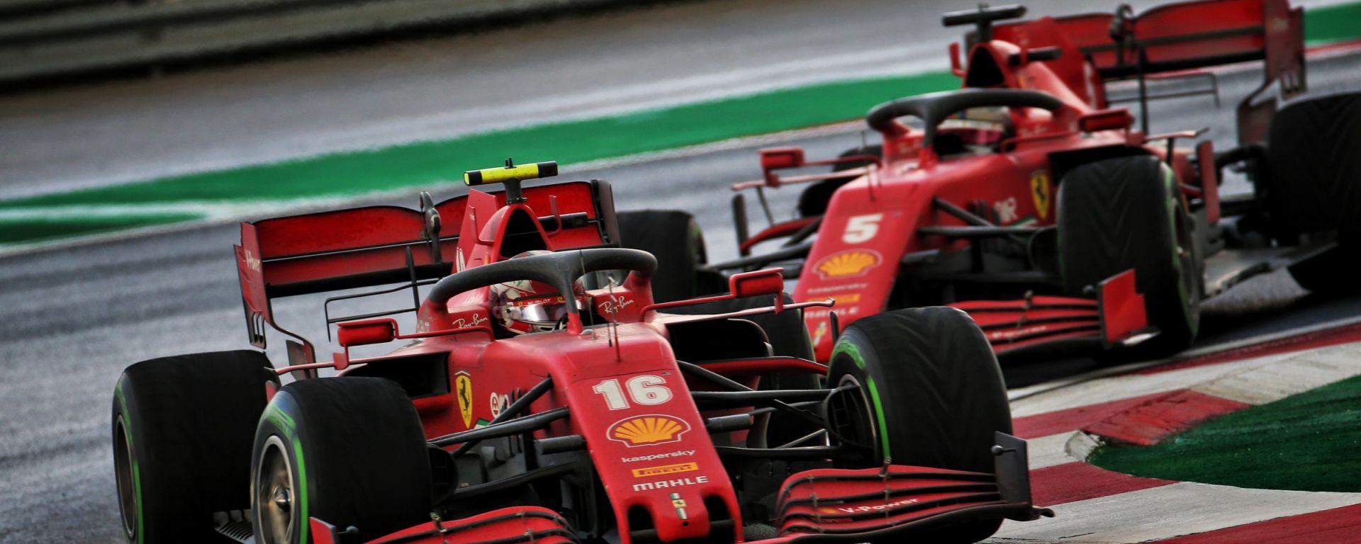 F1, GP Turchia 2020: Charles Leclerc e Sebastian Vettel (Ferrari)