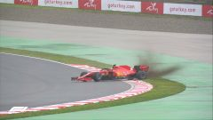 F1 GP Turchia 2020, Istanbul: Charles Leclerc (Scuderia Ferrari) in testacoda in prove libere
