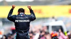 F1 GP Turchia 2020, Istanbul: Lewis Hamilton (Mercedes AMG F1) esulta dopo il trionfo