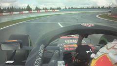 F1 GP Turchia 2020, Istanbul: Max Verstappen (Red Bull Racing) tocca la linea bianca in uscita box