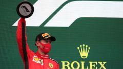 F1 GP Turchia 2020, Istanbul: Sebastian Vettel (Scuderia Ferrari) sul podio
