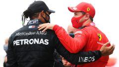 F1, GP Turchia 2020: Lewis Hamilton (Mercedes) e Sebastian Vettel (Ferrari)
