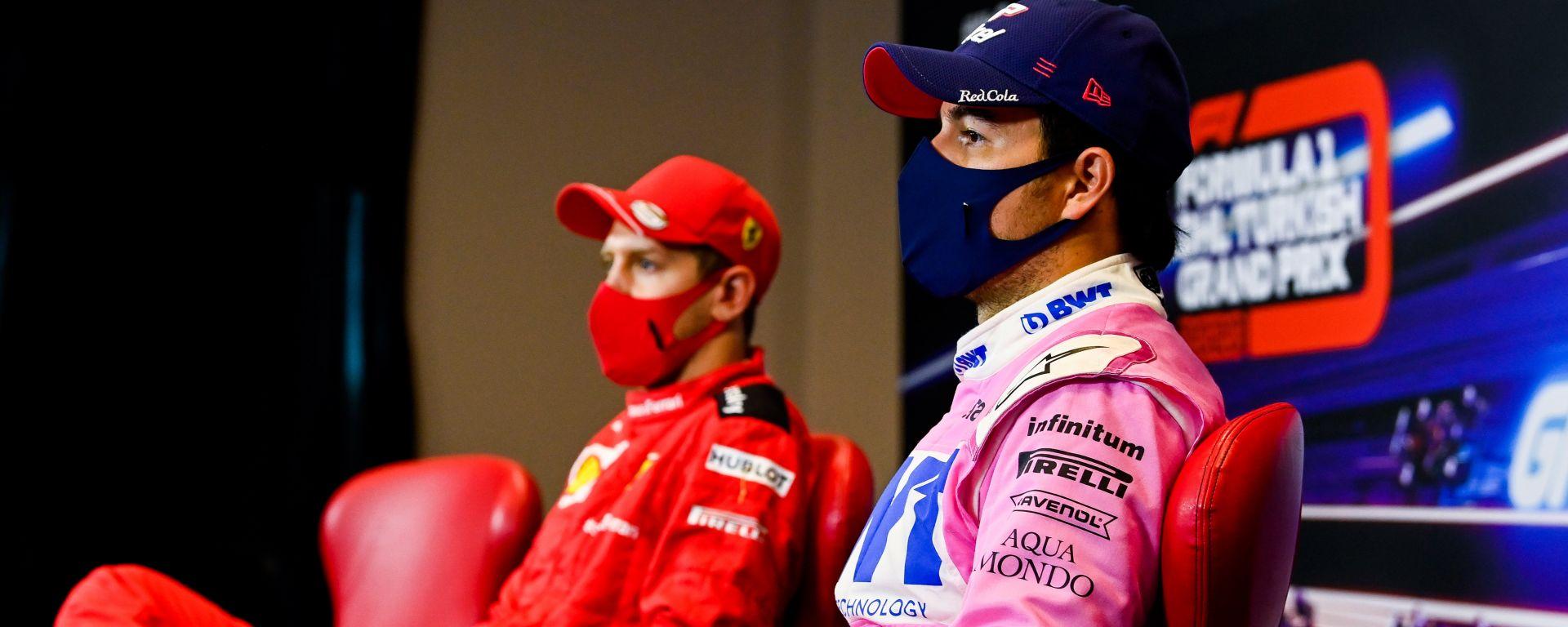 F1, GP Turchia 2020: Sergio Perez e Sebastian Vettel