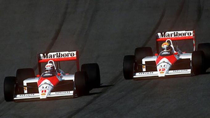 F1 GP Ungheria 1988, Hungaroring: Alain Prost e Ayrton Senna (McLaren-Honda)