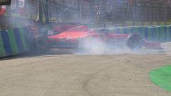 F1 GP Ungheria 2019, Budapest: il momento dell'incidente di Leclerc (Ferrari) in Q1