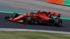 F1 GP Ungheria 2019, Budapest: Leclerc (Ferrari) in pista durante le qualifiche